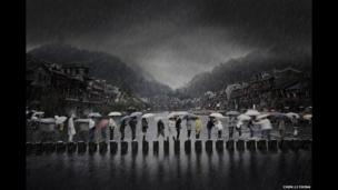 Rain in an ancient town by Chen Li , China, Winner, Open Travel, 2014 Sony World Photography Awards