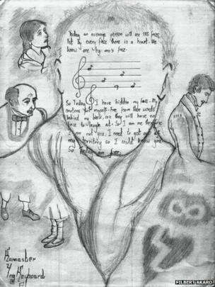 Filbert Akaro's drawing representing freedom