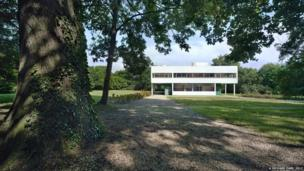 Villa Savoye, Poissy, 1929-30. General view of the site