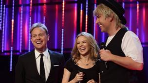 Jason Donovan, Kylie Minogue and David Walliams