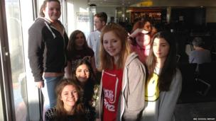 Comberton students ready to board their flight to Brazil