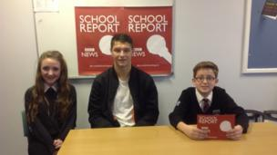 Northfield School and Sports College students and Bradley Walker