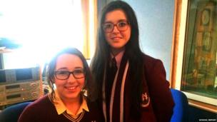 Emma and Alanna from St Mary's High School in Newry are guest editing Radio Ulster's flagship topical discussion programme, TalkBack.