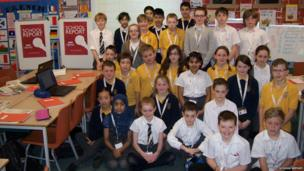 The students of Killermont Primary School in East Dunbartonshire are excited to be reporting on News Day.