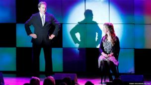 Actor Beau Bridges on stage