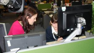 BBC Midlands Today's Rebecca Wood with School Reporter Lola