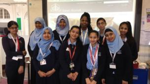 The team of Reporters at Sarah Bonnell School in Newham.