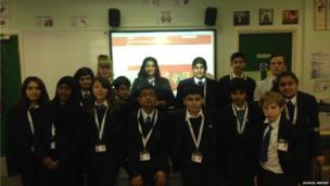 The School Report team at Park High School in Harrow.