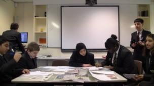 The team at Icknield High School working hard on News Day.