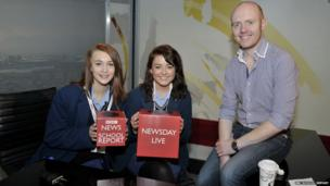 Ashfield Girls School school reporters had the unique experience of presenting the weather with BBC's Barra Best