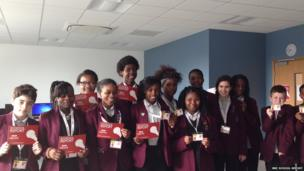 Riverside School in Dagenham wrap up their News reports with smiles