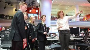 School Reporters meet newsreader Fiona Bruce