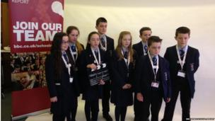 School Reporters from St Patrick's Academy in Dungannon