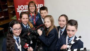 Julia Paul with School Reporters