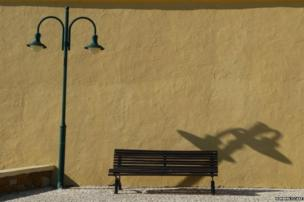 Seaside bench in Southern Portugal