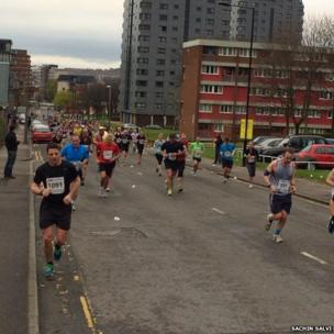 Runners in Sheffield.