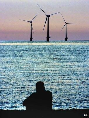 Offshore wind turbines (Image: PA)