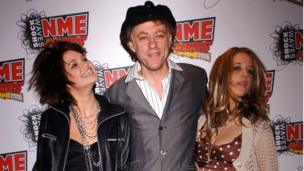 Peaches Geldof (right) with her dad Bob (centre) and sister Pixie (left)
