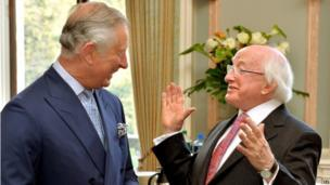 Prince Charles and Michael D Higgins
