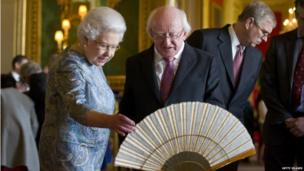 The Queen and Michael D Higgins