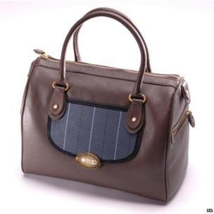 Solar-powered handbag