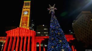 Solar powered Christmas tree