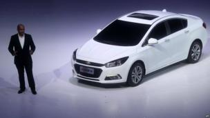 General Motors' new Chevrolet Cruze being launched