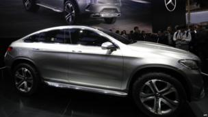 A Mercedes-Benz Coup SUV car on display