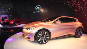 Infinity Q30 on display