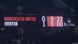 Manchester United v Everton scoreboard, 4 December 2013
