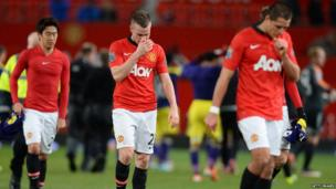 Tom Cleverley after Manchester United were knocked out of FA Cup, 5 January 2014