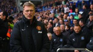 David Moyes at Everton game, 20 April 2014