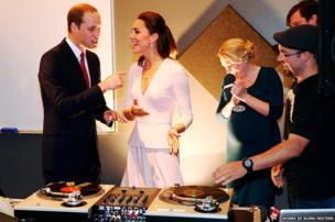 The Duke and Duchess of Cambridge DJ