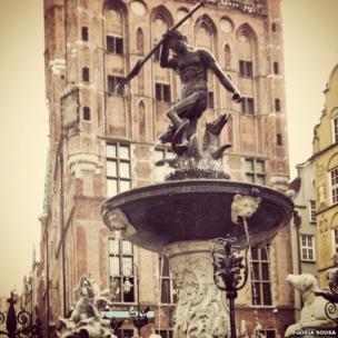 Neptune Monument in Gdansk