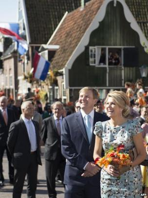 King Willem-Alexander and Queen Maxima in De Rijp for King's Day (26 April)
