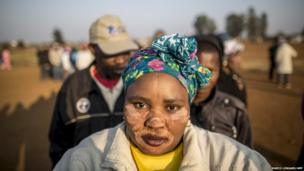 South Africans queue to vote in the general election