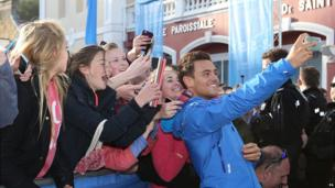 Tom Daley with fans