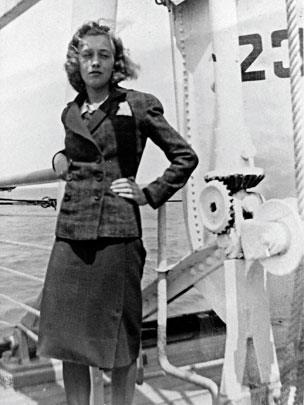 Gisela Feldman on board the St Louis