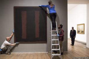 Mark Rothko's painting Black on Maroon is back on public display at London's Tate Modern