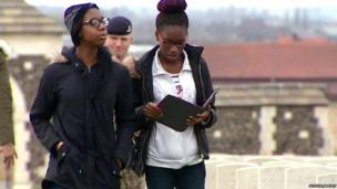 School Reporters Brithany and Charlotte visit a World War One cemetery in Belgium