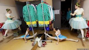 Students of the Krasnoyarsk choreographic college