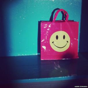 Bag with a happy face