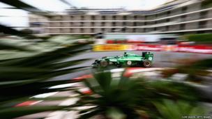 Kamui Kobayashi of Caterham drives his F1 car