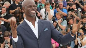 Actor Djimon Hounsou, from Benin, at the Cannes Film Festival, France - Friday 16 May 2014