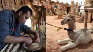A man works in a 500-year-old pottery workshop on Djerba - Sunday 18 May 2014