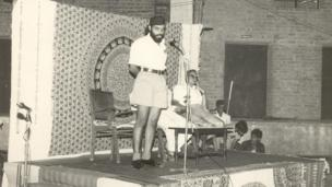 Modi as a young RSS pracharak