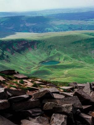Llyn Cwm Llwch in the Brecon Beacons.