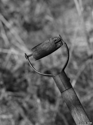 Old garden fork