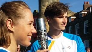 Lizzy Yarnold and Lewis Church
