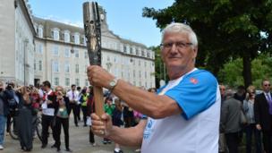 John Simmonds with the baton in Maidstone